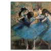 Edgar Degas 'Dancers in Blue, 1890' Canvas Rolled Art