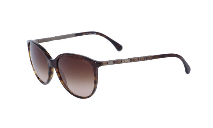 Brand New Chanel 5306B Tortoise Brown Oval Cat Eye Bijou Sunglasses ...