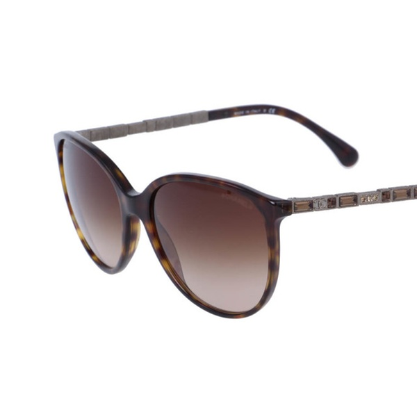 77f7b1f1ee7f Brand New Chanel 5306B Tortoise Brown Oval Cat Eye Bijou Sunglasses ...