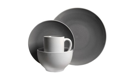 Gibson Serenity Gray 16pc Dinnerware Set- Gray 5766be85-6a95-4fa8-8c52-cafb15472bed