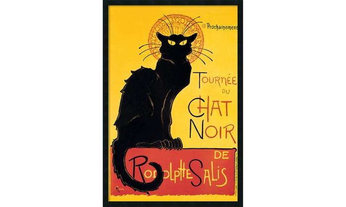 Framed Art Print Tournee Du Chat Noir Theophile Alexandre Steinlen Outer 26x38