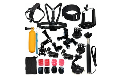 23 in 1 camera sports accessories kit for gopro hero 5 4 3 2 1 groupon. Black Bedroom Furniture Sets. Home Design Ideas