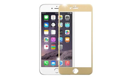 Insten 3D Curved Alloy Tempered Glass Film For iPhone 6 6s Plus Gold