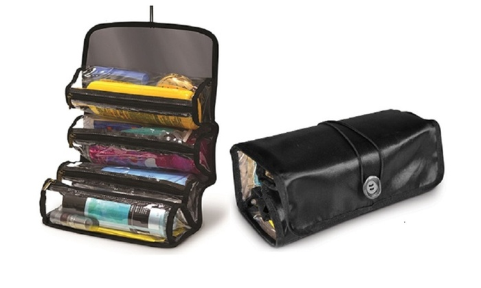 RollUp Cosmetic Caddy Makeup Jewelry Storage Bag Travel Organizer