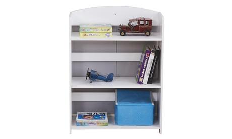 3-Shelf Bookcase Magazine Rack Book Storage Organizer for Kids Children White