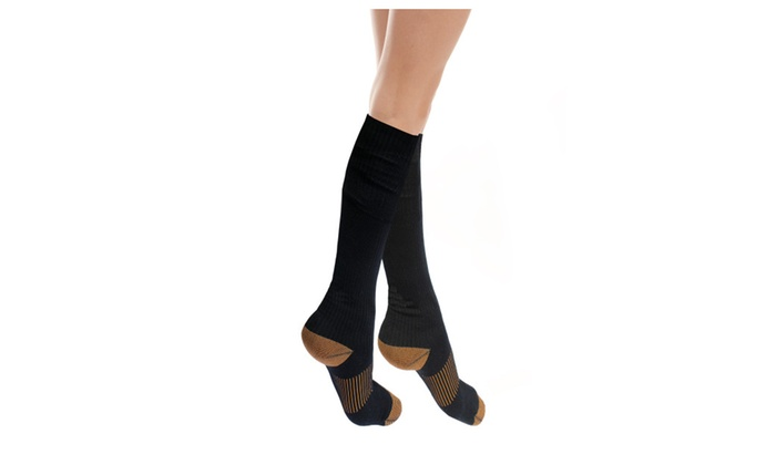 6 Pack Copper Infused Calves High Therapeutic Compression Socks