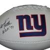 YA Tittle Autographed New York Giants Logo Football Inscribed HOF 71 (