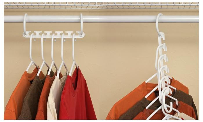 Hampton Direct Lot Of 20 Wonder Hanger Closet Clothes Organizer Space Saver