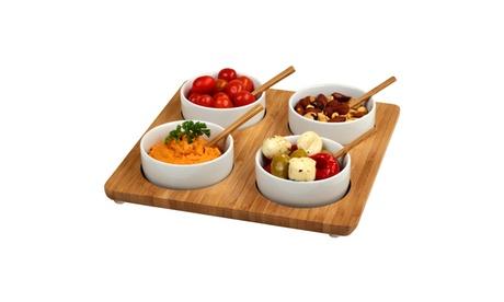 Four Bowl Square Serving Platter