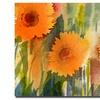 Sheila Golden Orange Wild Flowers Canvas Print
