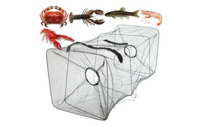 Foldable Fishing Bait Trap Fish Net Cast Aquatic Animals Dip Cage