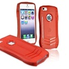 INSTEN TPU Rubber Skin Case For Apple iPhone 5 5s, Red