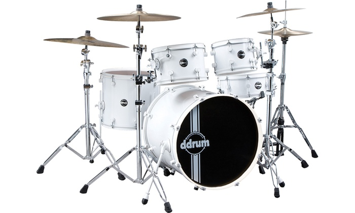 ddrum Reflex White/White Drum Kit 5pc SP 22