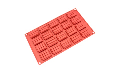Freshware 20-Cavity Silicone Rectangle Waffle, Cookie and Candy Mold 7c013821-afde-42a7-b0ac-f3681eebc17a