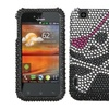 Insten Skull Diamante Case for LG: E739 (myTouch)