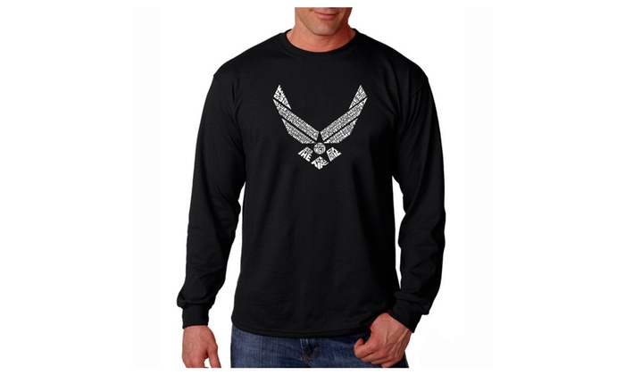 Men's Long Sleeve T-shirt - LYRICS TO THE AIR FORCE SONG