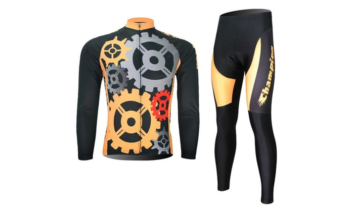 Men's Sweat Uptake Quick Dry Long Sleeve Cycling Match Suit