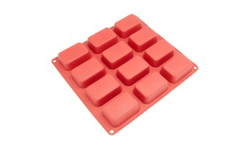 Freshware 12-Cavity Petite Silicone Mold for Soap, Muffin and Brownie