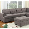 Odessa Waffle Suede Reversible Sectional Sofa