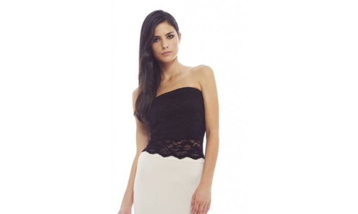 AX Paris Sweetheart Lace Scallop  Top