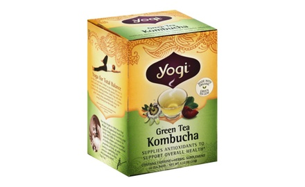 Yogi Kombucha Green Tea, 1.12oz each,  (Pack of 96 tea bags)