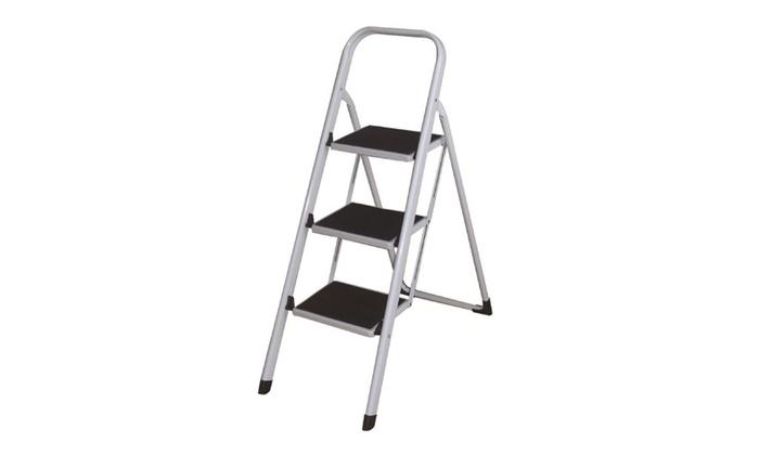3 Steps Folding Lightweight Step Ladder, Step Stool For Home U0026 Office Use