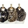 Super Soft Faux Fur Animal Print Warm Infinity 2Loops Scarves
