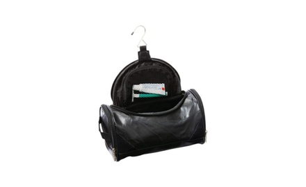 Spacious Genuine Lambskin Leather Toiletry Bag - Travel Bag