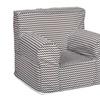 Trend Lab Bedtime Gray Chevron Petite Accent Chair