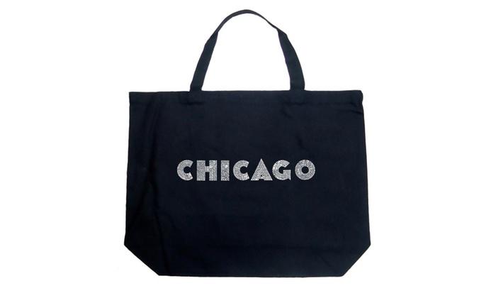 Large Tote Bag - CHICAGO NEIGHBORHOODS