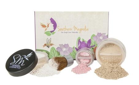 4 Piece Essential Beauty Mineral Makeup Minimalist Foundation Kit