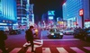 Japan Blue Street Nightlight Printed on Special High Quality Glossy Paper