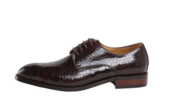 Men's Work Snake Leather Shoes