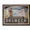 Louis Chalon Champagne Delbeck 1910 Canvas Print