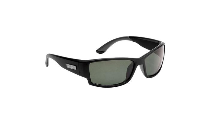 Flying Fisherman Razor Matte Blk Frame Smoke Lens Sunglasses