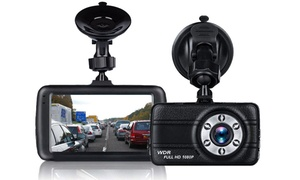 Full 1080P Dash Cam w/ 170 Degree Super Wide Angle & Night Vision