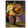 Purple Vase by Sheila Golden-14x19  Canvas Print