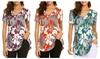 Women's Casual Print Tee Tops Summer Short Sleeve Shirts Tunics