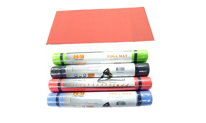 Buy It Now : Yoga Mat w Non-Slip Surface (Colors May Vary)