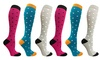 Women's Knee-Length Graduated Compression Socks 20-30mmHg (3 Pairs)