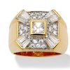 Men's 2.47 TCW Cubic Zirconia 14k Gold-Plated Ring