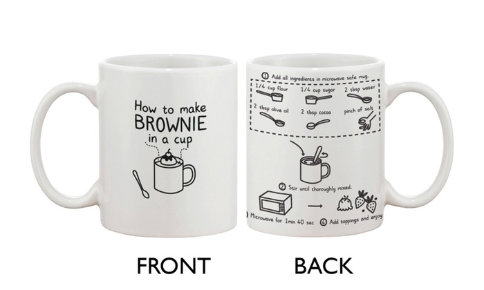 Cute Ceramic Coffee Mug - How to Make Brownie in a Cup ...