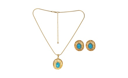 SLEEPING BEAUTY NECKLACE & EARRING SET