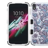 Insten Flowers Silicone Case For Alcatel One Touch Idol 3 Purple WH