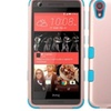 Insten Hybrid Silicone Case For HTC Desire 626 626s Rose Gold Teal