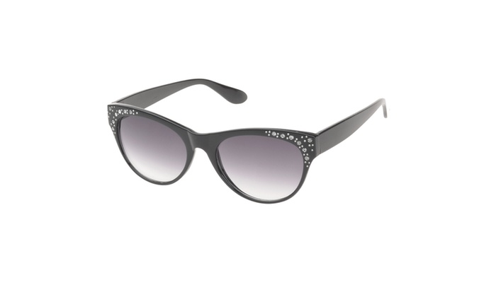 MLC Eyewear 'Roxana' Rhinestone Studded Cat eye Fashion Sunglasses