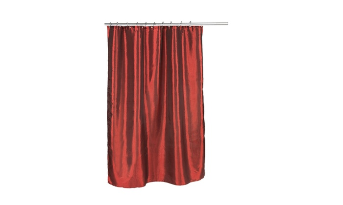 American Crafts 70 X 72 Shimmer Faux Silk Shower Curtain 100