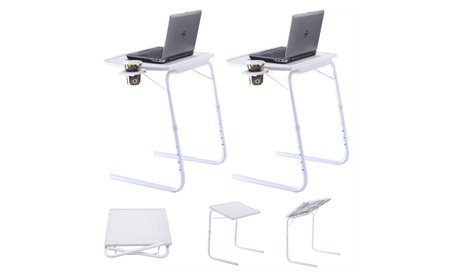 Adjustable Desk Tray with Cup Holder (Set of 2) 6b98964f-0bb4-402c-a5e2-308cb870b3fb