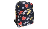 Betty Boop Black Red Hearts Flowers Backpack Purse (4everfunky) photo