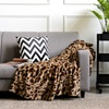 Cheer Collection Animal Print Faux Fur Reversible Throw Blanket